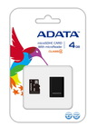 Карта памяти A-Data MicroSDHC 4GB + adapter